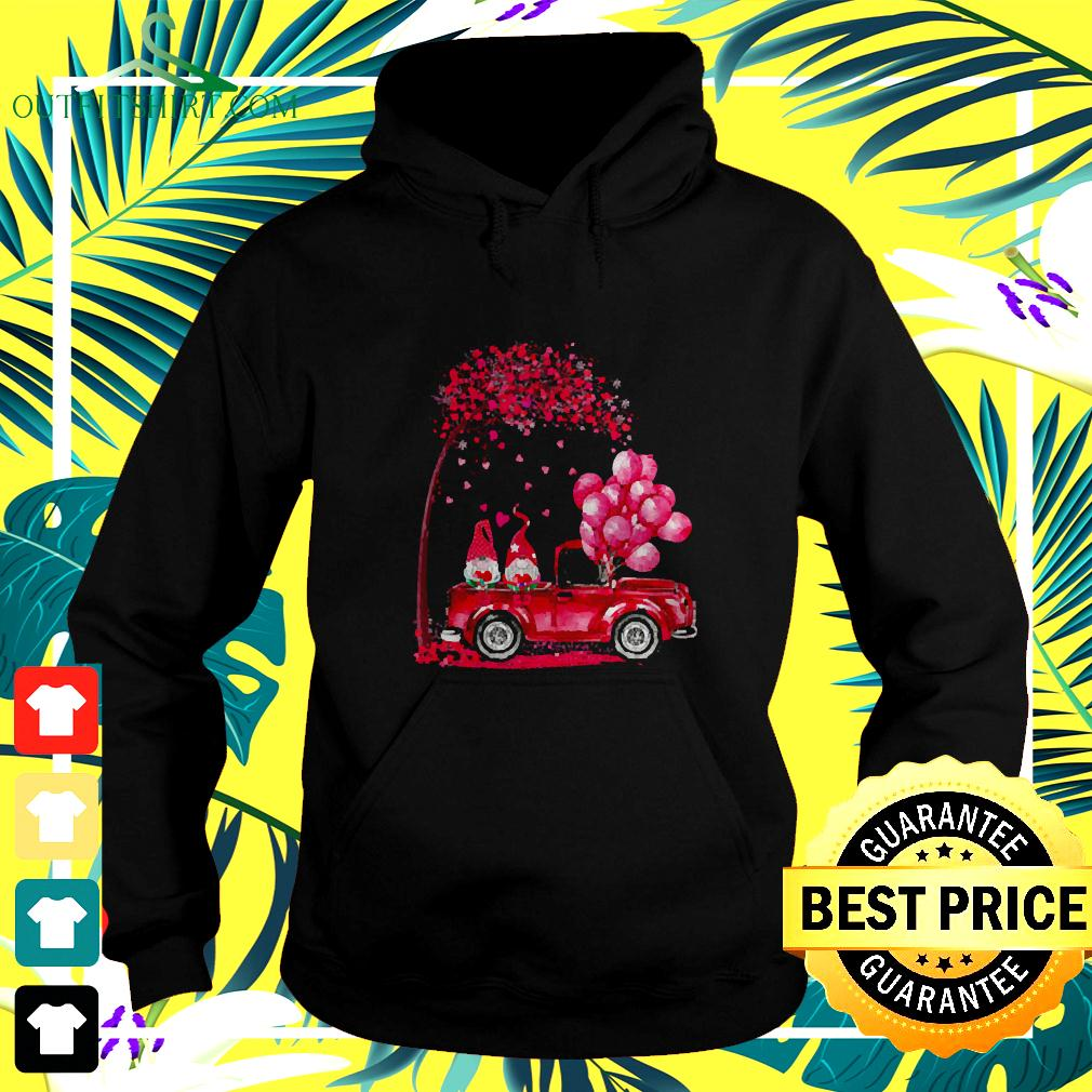 Funny Cute Gnomes In Trucks Happy Valentine Gifts hoodie