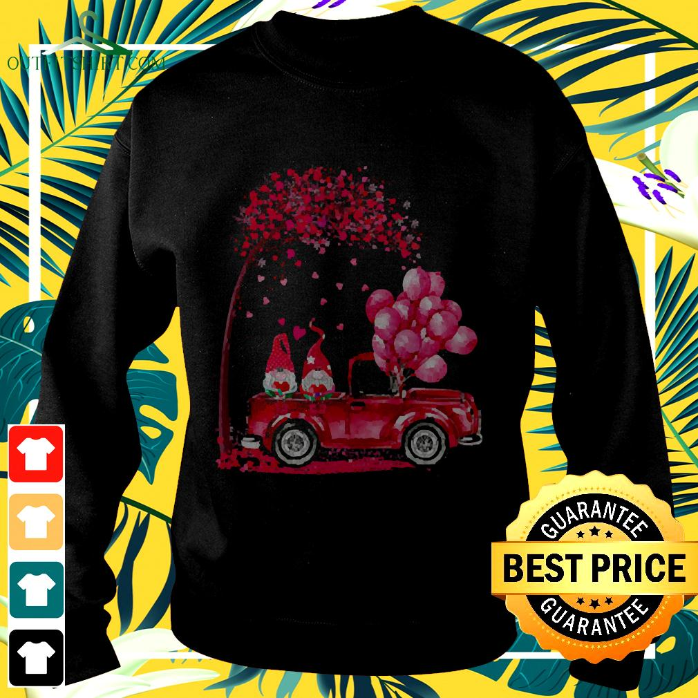 Funny Cute Gnomes In Trucks Happy Valentine Gifts sweater