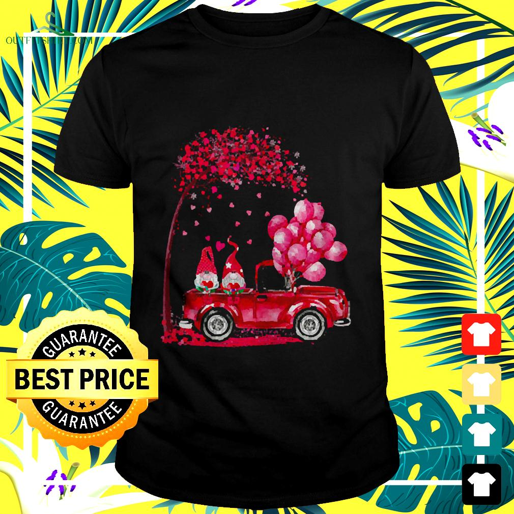 Funny Cute Gnomes In Trucks Happy Valentine Gifts t-shirt