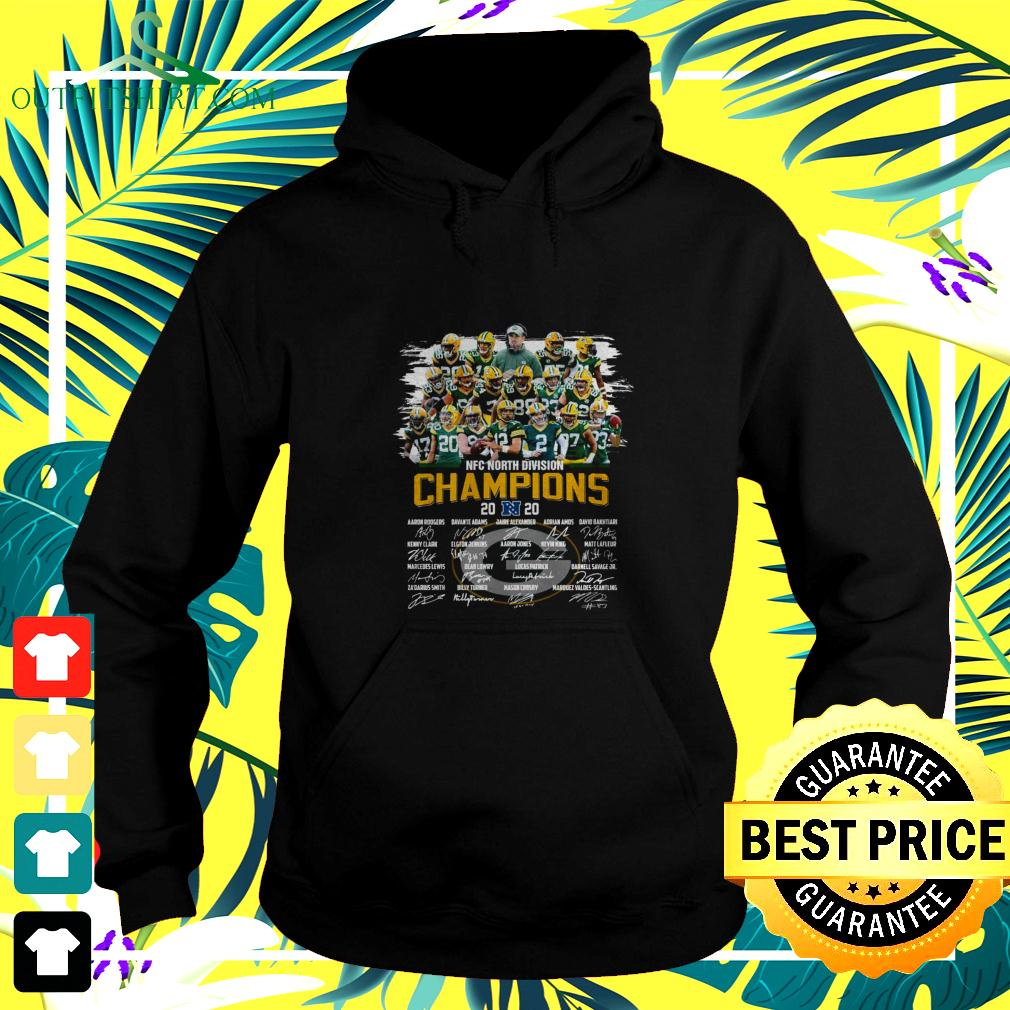Green Bay Packers NFC North Division Champions 2020 signatures hoodie