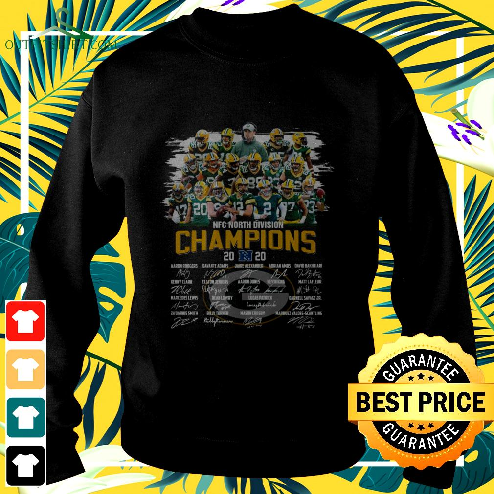 Green Bay Packers NFC North Division Champions 2020 signatures sweater