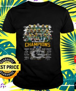Green Bay Packers NFC North Division Champions 2020 signatures t-shirt