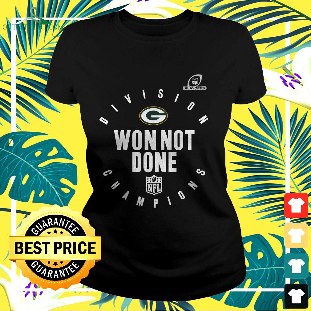 Green Bay Packers NFL Playoffs Division Champions won not done ladies-tee