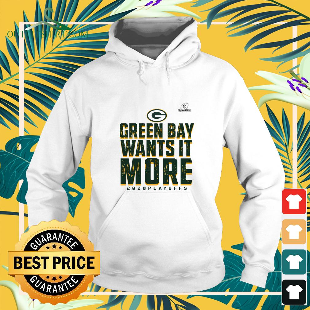 Green Bay Packers wants it more 2020 playoffs hoodie