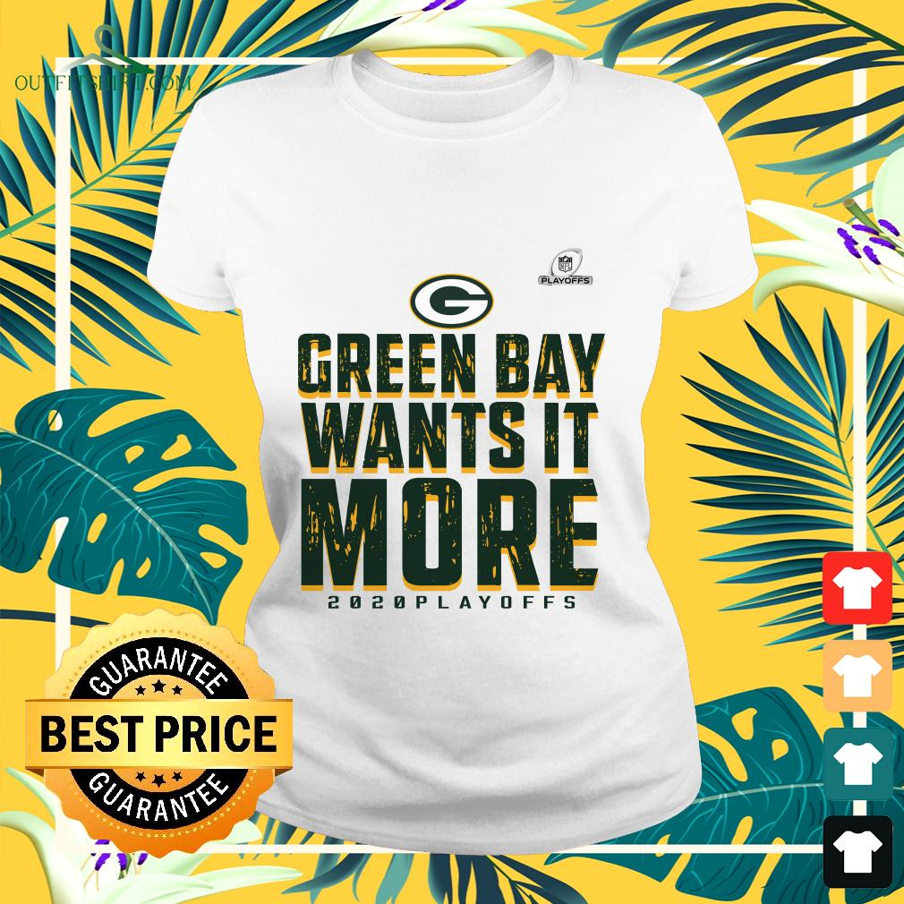 Green Bay Packers wants it more 2020 playoffs ladies-tee