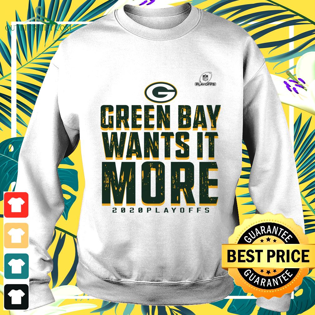 Green Bay Packers wants it more 2020 playoffs sweater