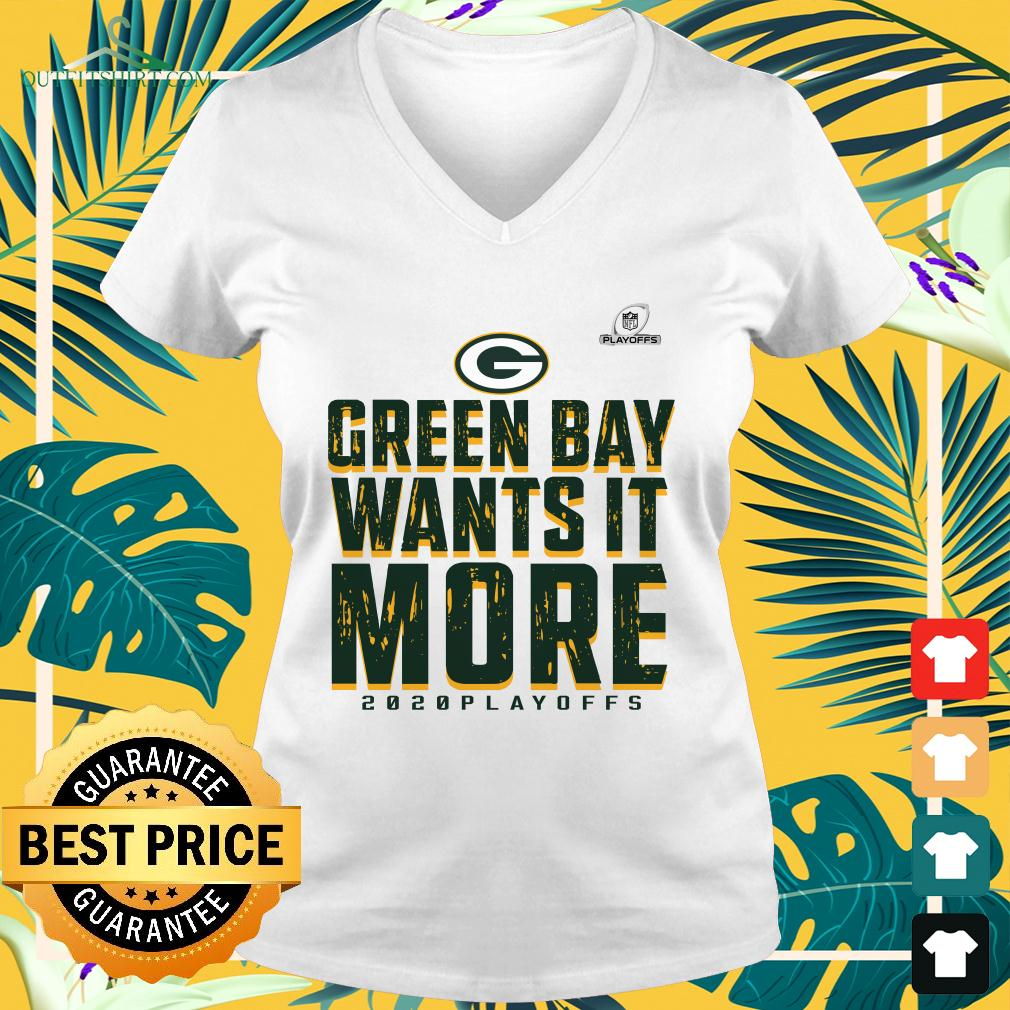 Green Bay Packers wants it more 2020 playoffs v-neck t-shirt