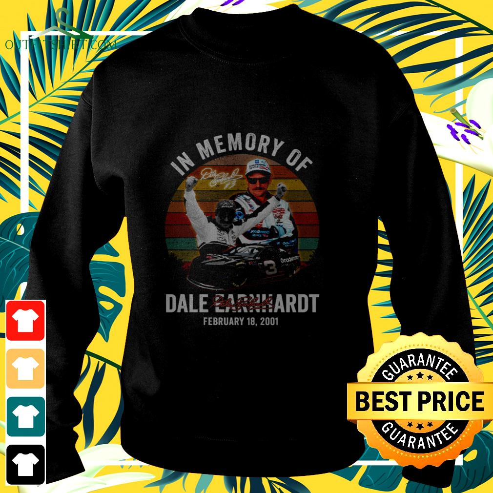In memory of dale earnhardt february 18 2001 signature sweater