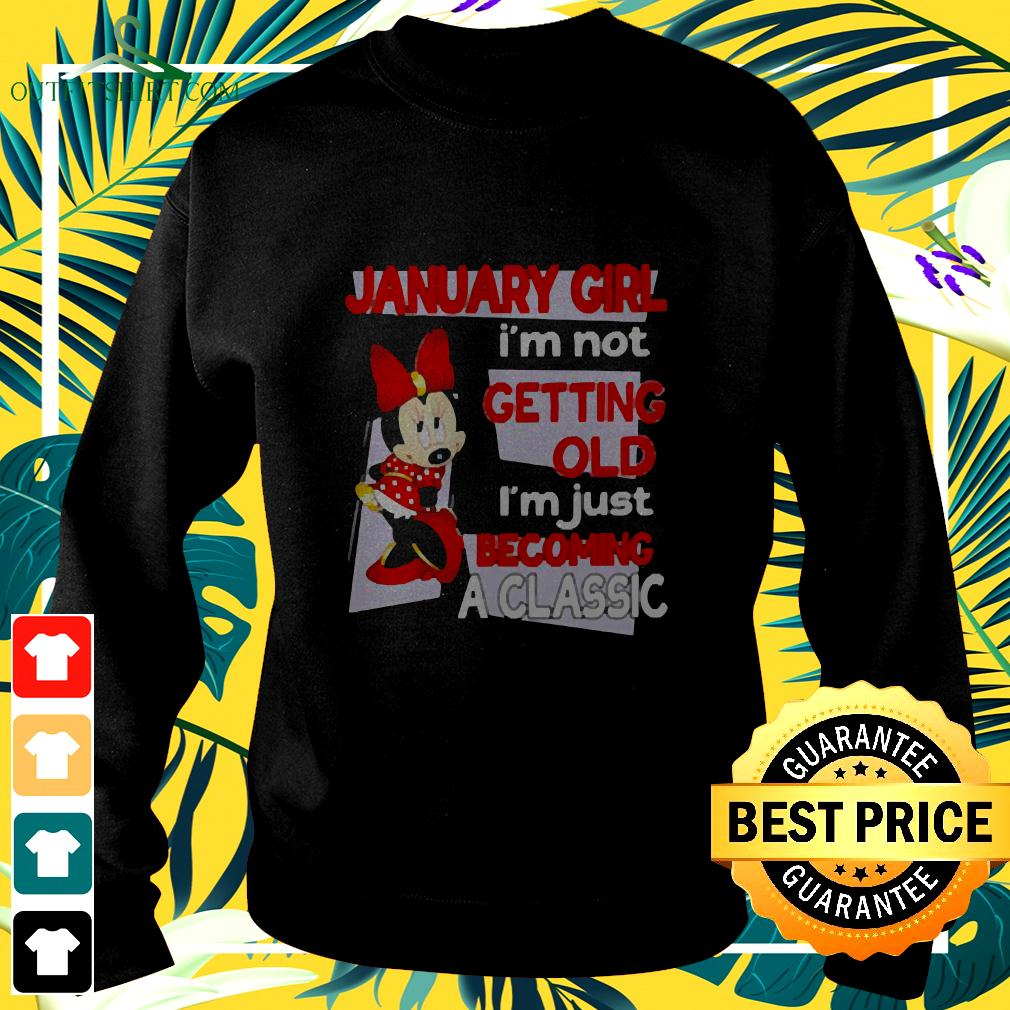 January Girl I'm Not Old I'm Just Becoming A Classic Mickey Disney sweater