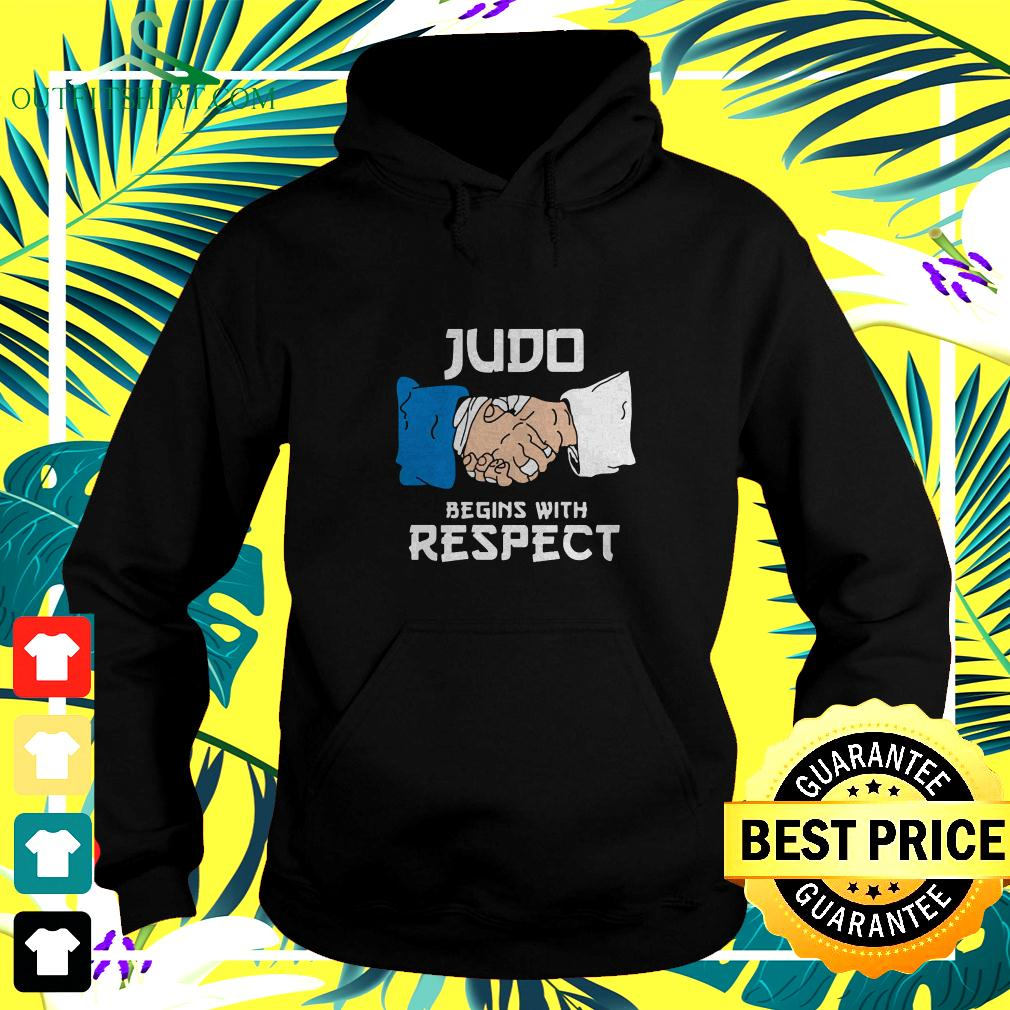 Judo Begins With Respect hoodie
