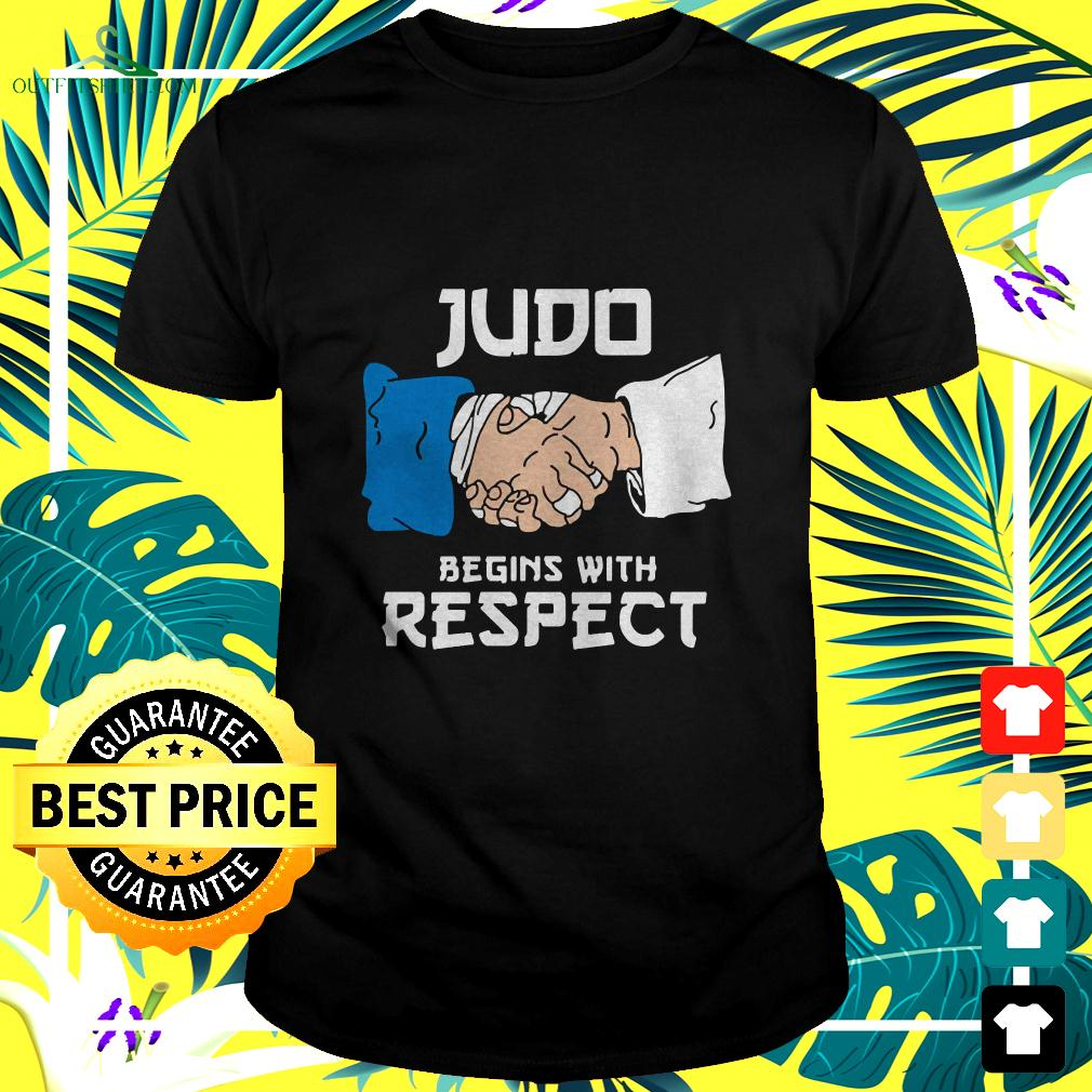Judo Begins With Respect t-shirt