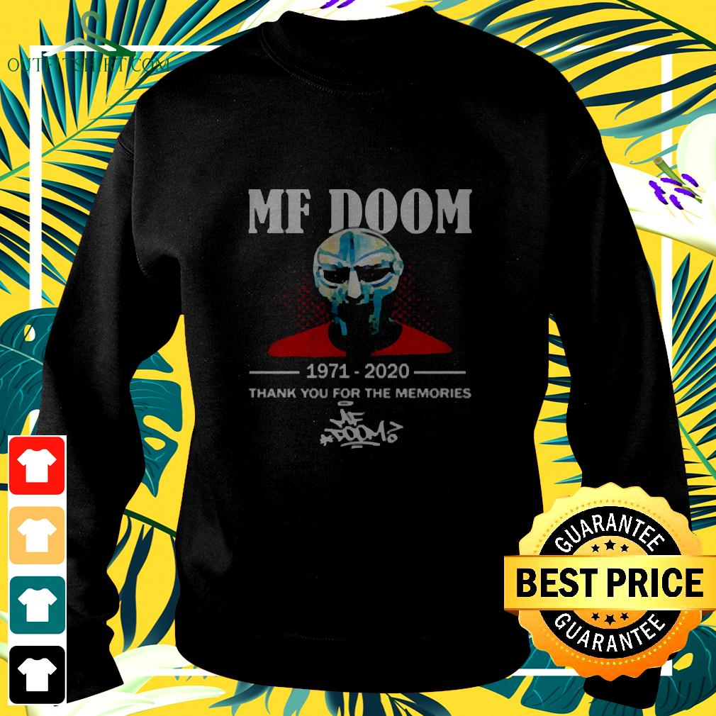 Mf Doom 1971-2020 Thank You For The Memories Signature sweater