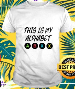 Official This is my alphabet abxy t-shirt