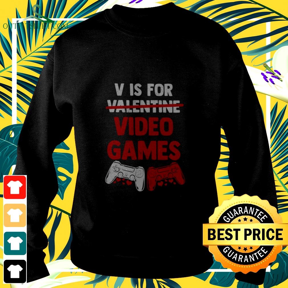 Official V is for Valentine video games sweater