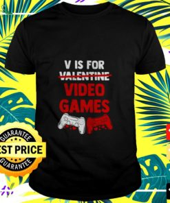 Official V is for Valentine video games t-shirt