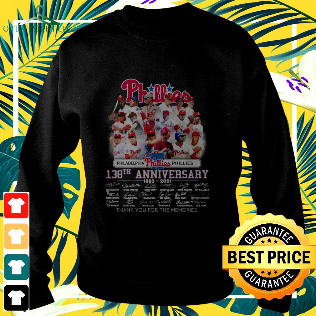 Philadelphia Phillies 138th anniversary 1883-2021 thank you for the memories sweater