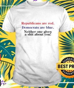 Republicans are red Democrats are blue t-shirt