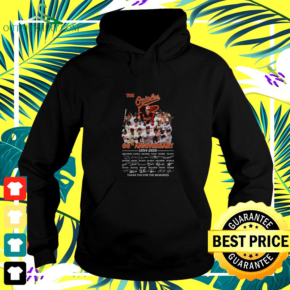 The Orioles 66th anniversary 1954-2020 thank you for the memories hoodie
