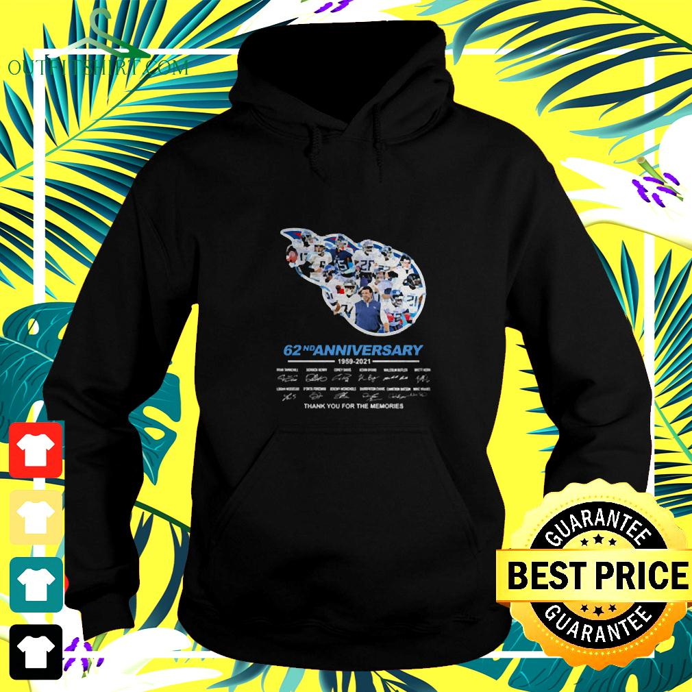 Titans 62nd anniversary thank you for the memories signatures hoodie