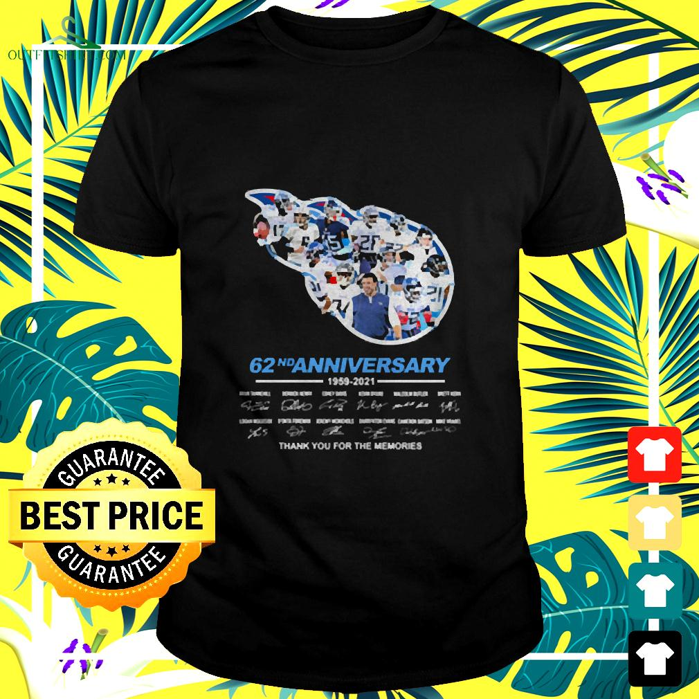 Titans 62nd anniversary thank you for the memories signatures t-shirt