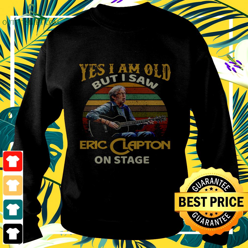 Yes I am old but I saw Eric Clapton on stage vintage sweater