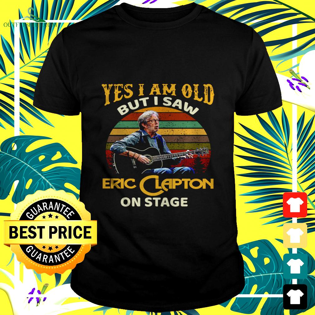 Yes I am old but I saw Eric Clapton on stage vintage t-shirt