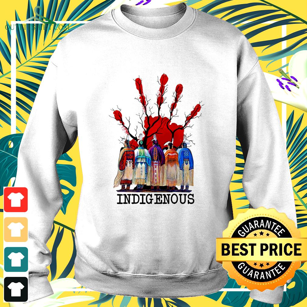 Blood hand native American indigenous sweater