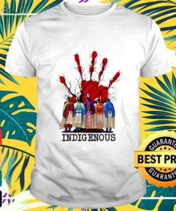 Blood hand native American indigenous t-shirt