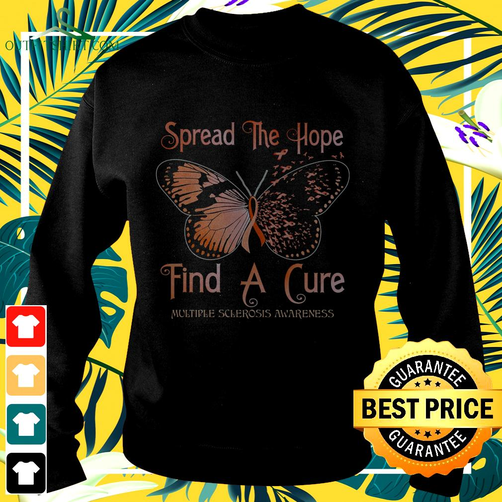 Butterfly Spread the hope find a cure sweater