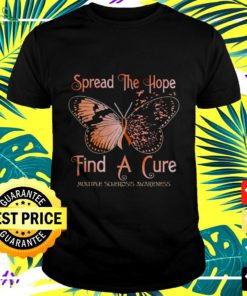 Butterfly Spread the hope find a cure t-shirt