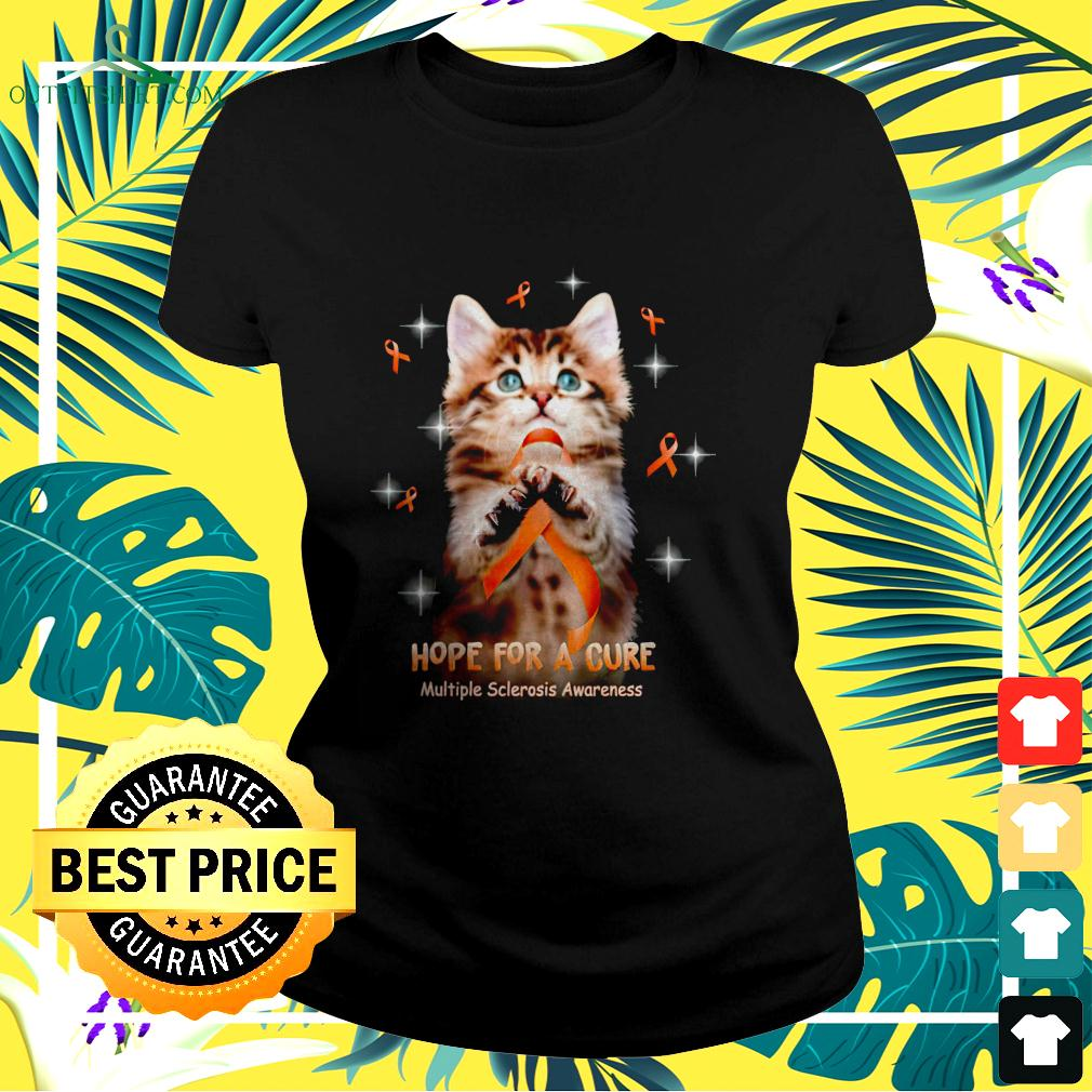 Cat hope for a cure multiple sclerosis awareness ladies-tee