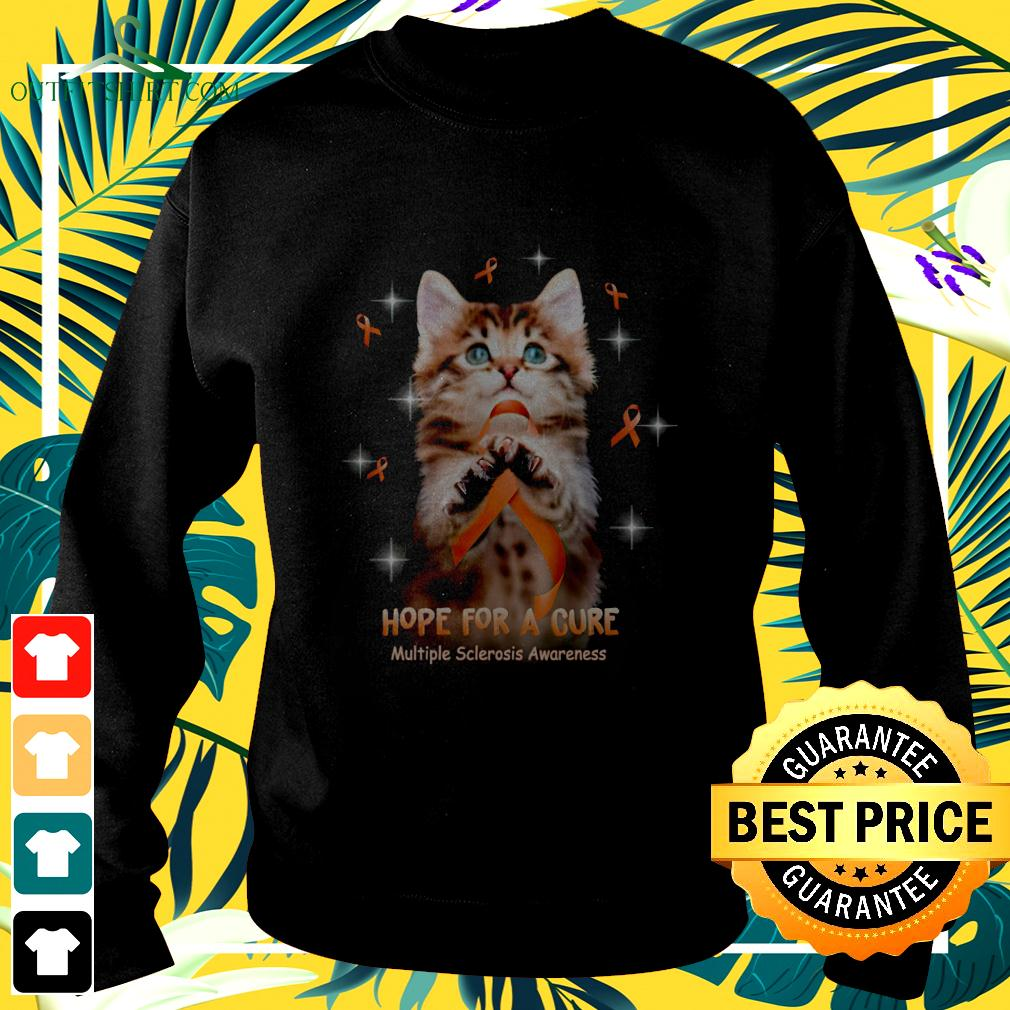Cat hope for a cure multiple sclerosis awareness sweater