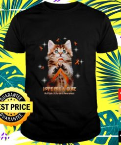 Cat hope for a cure multiple sclerosis awareness t-shirt