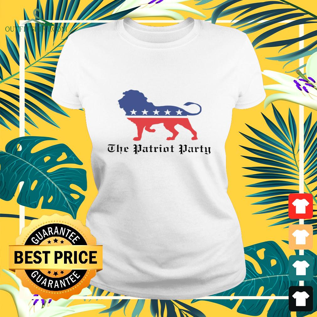Lions The patriot party American ladies-tee