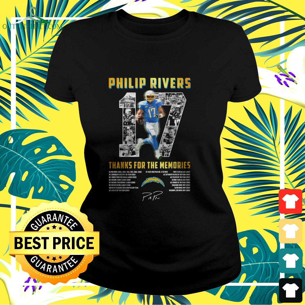 Los Angeles Chargers 17 Philip Rivers thanks for the memories ladies-tee