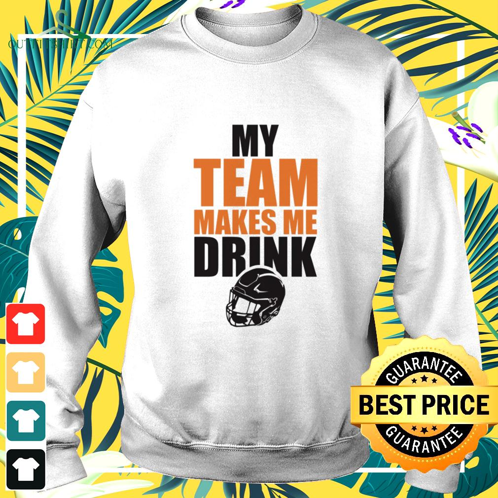 NFL Chicago Bears my team makes me drink sweater