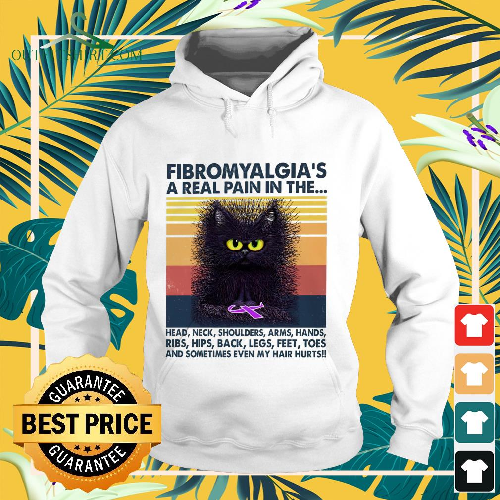 Cat Fibromyalgia's a real pain in the head neck shoulders arms hands vintage hoodie