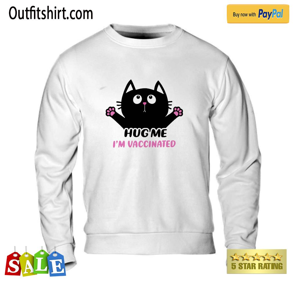 Cat Lovers – Hug Me I'm Vaccinated Funny sweater