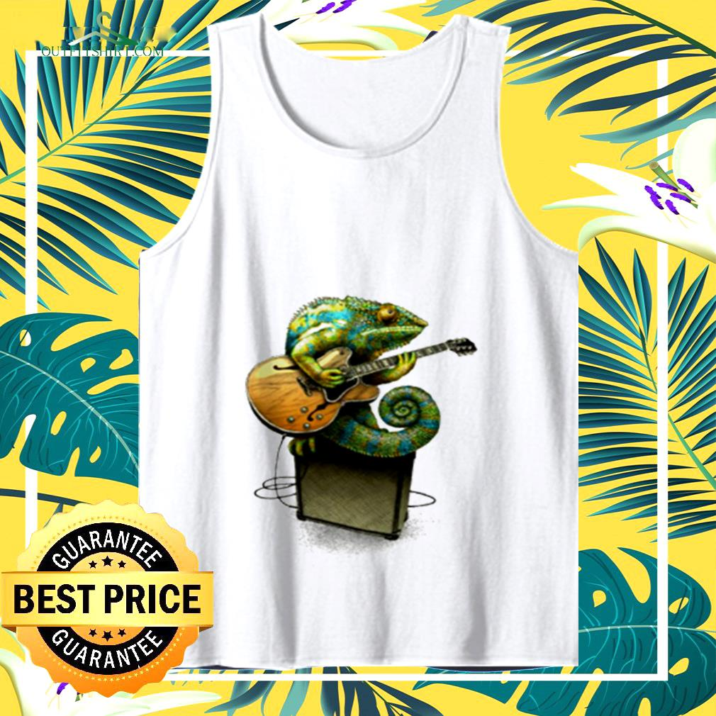 Chameleon plays the blues plus a few other colors tank top