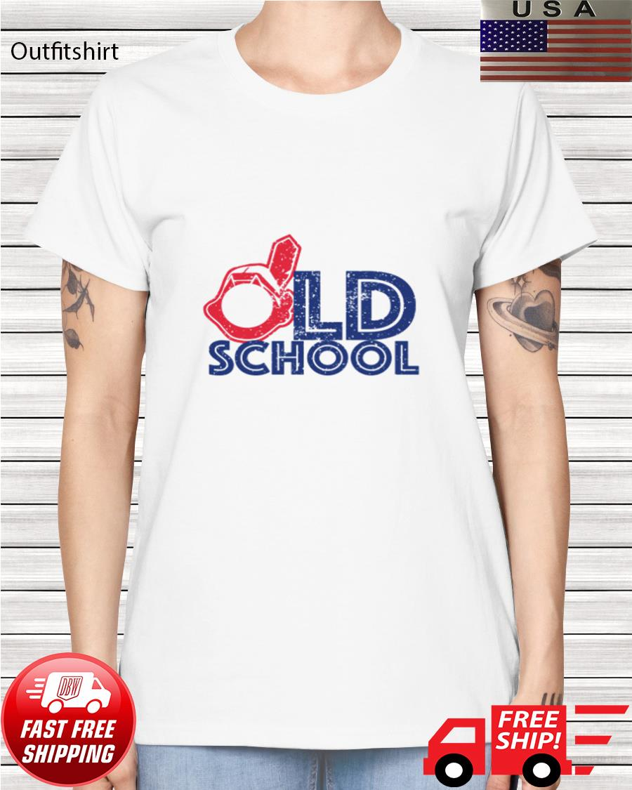 Cleveland old school in the house ladies-tee