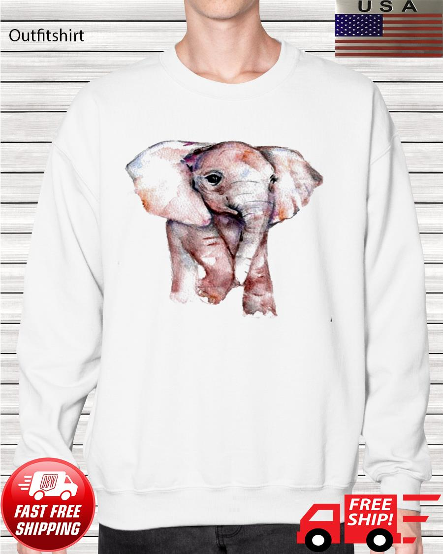 Elephant art sweater
