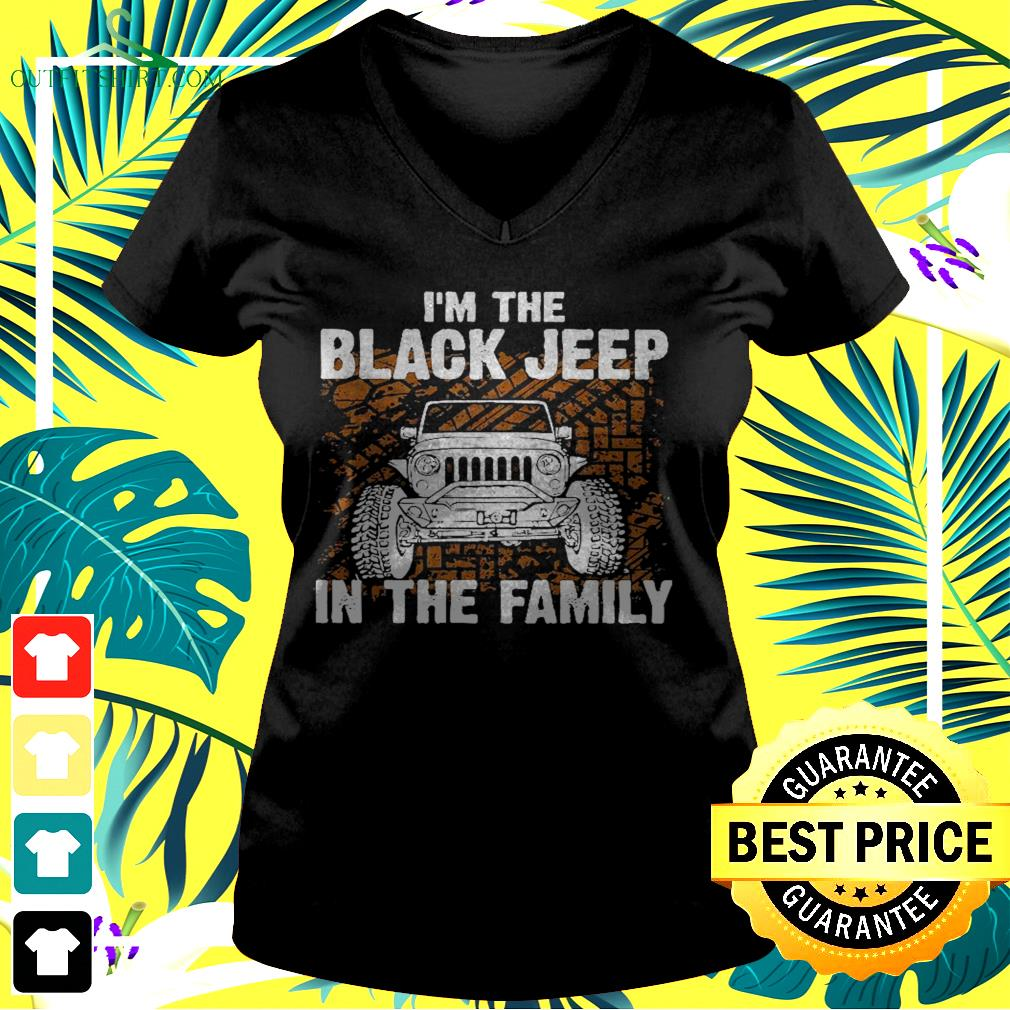 I'm the black jeep in the family v-neck  t-shirt