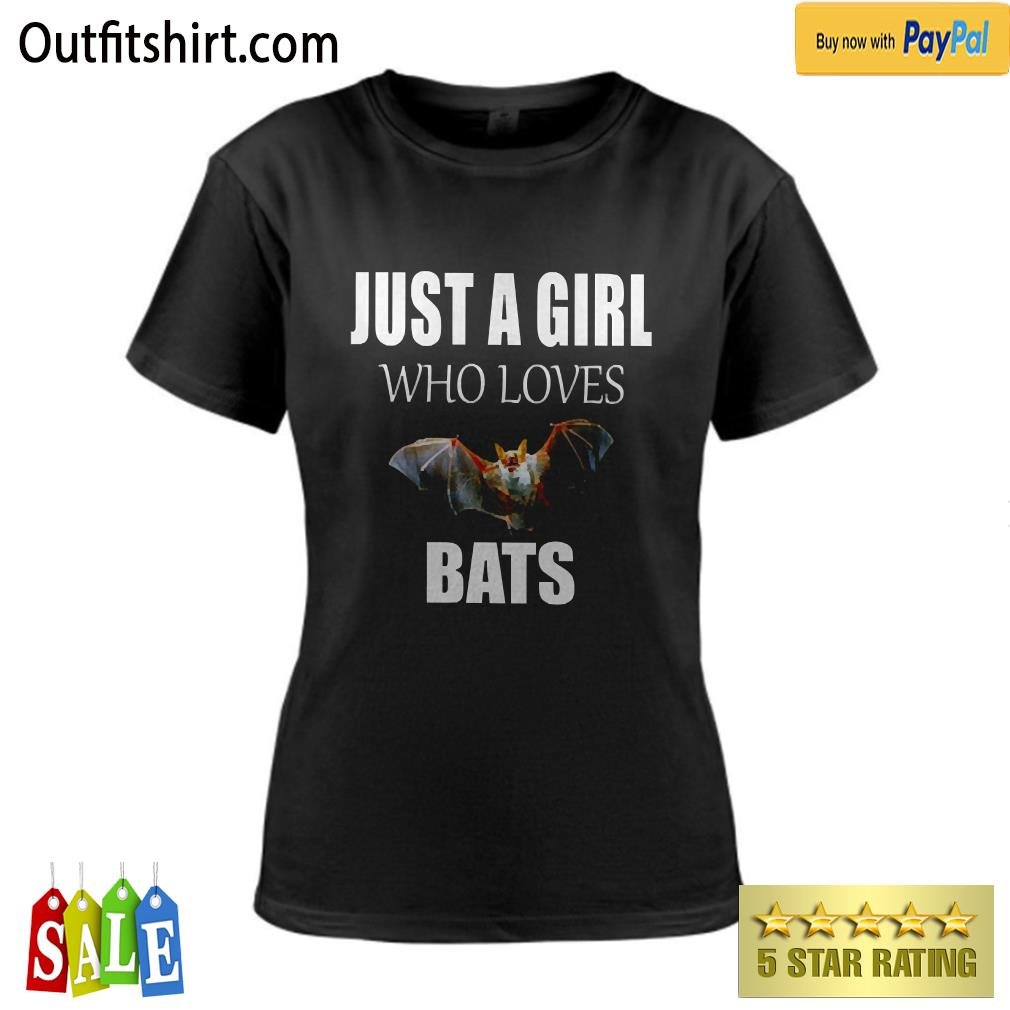 JUST A GIRL WHO LOVES BATS ladies-tee