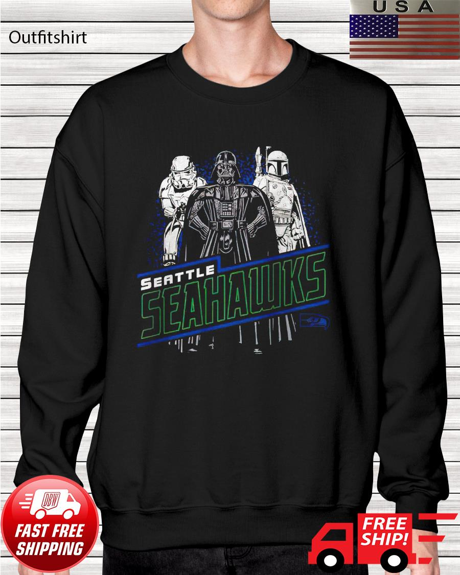 Seattle Seahawks Junk Food Empire Star Wars sweater