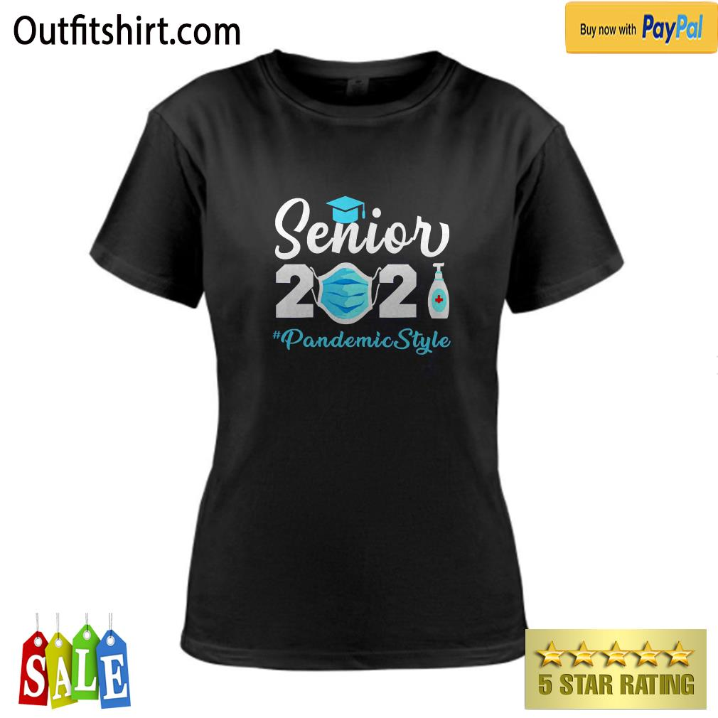 Senior 2021 Pandemic Style Quarantine Social Distancing ladies-tee