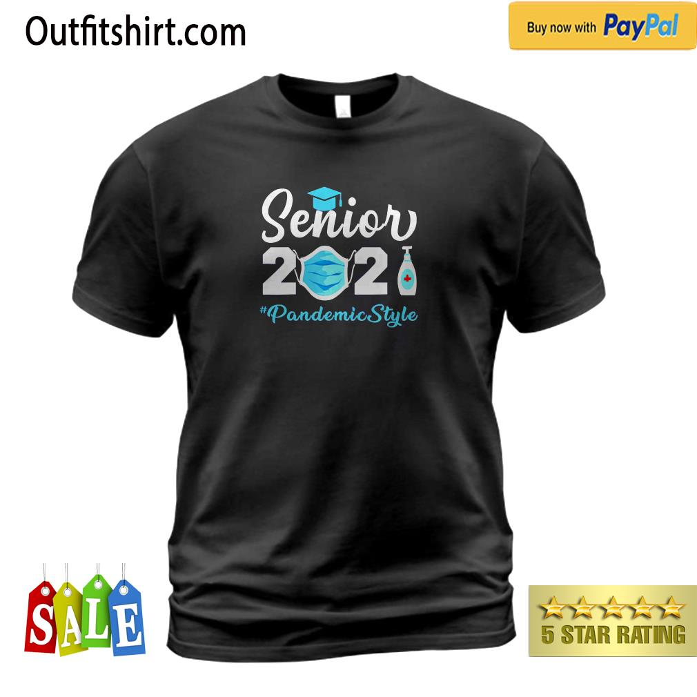 Senior 2021 Pandemic Style Quarantine Social Distancing t-shirt