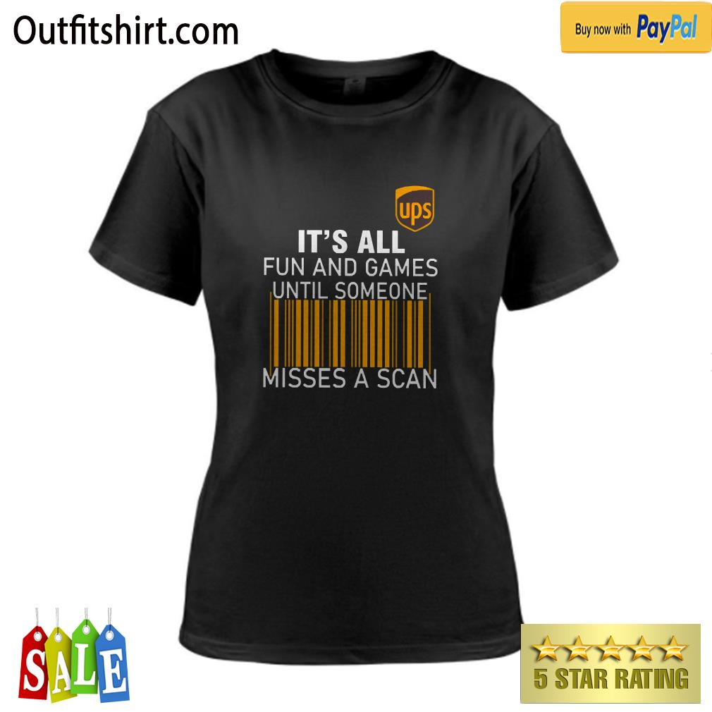 UPS It's all Fun and Games ladies-tee