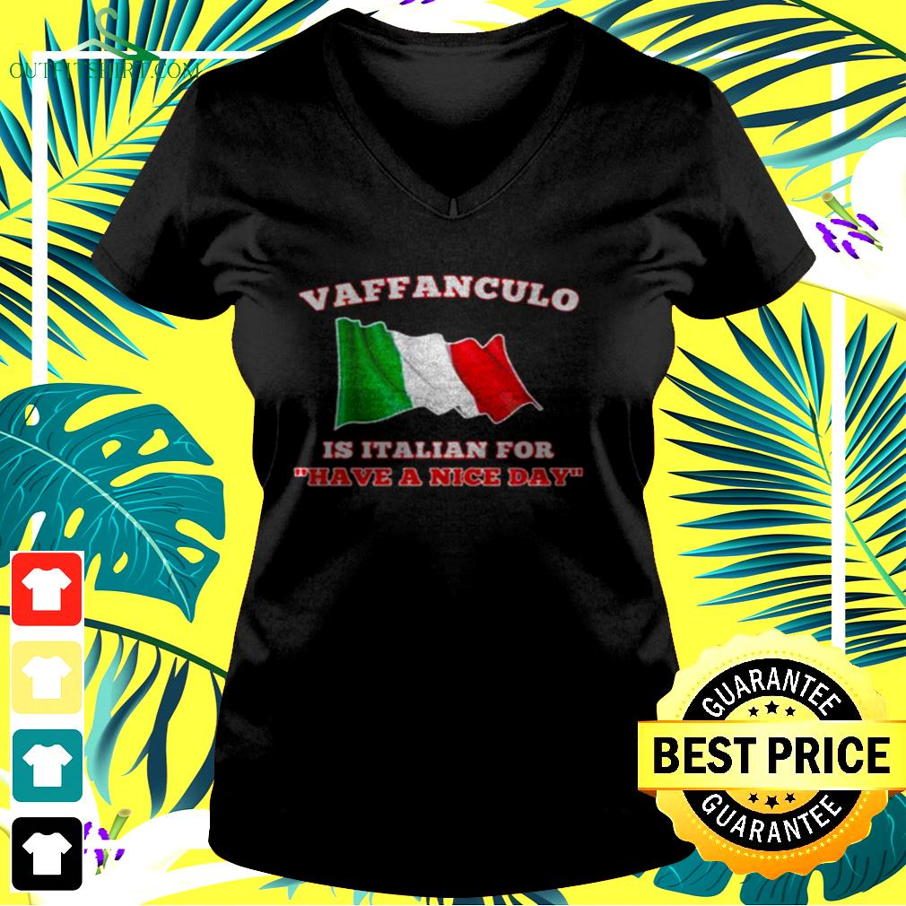 Vaffanculo is Italian for have a nice day v-neck t-shirt