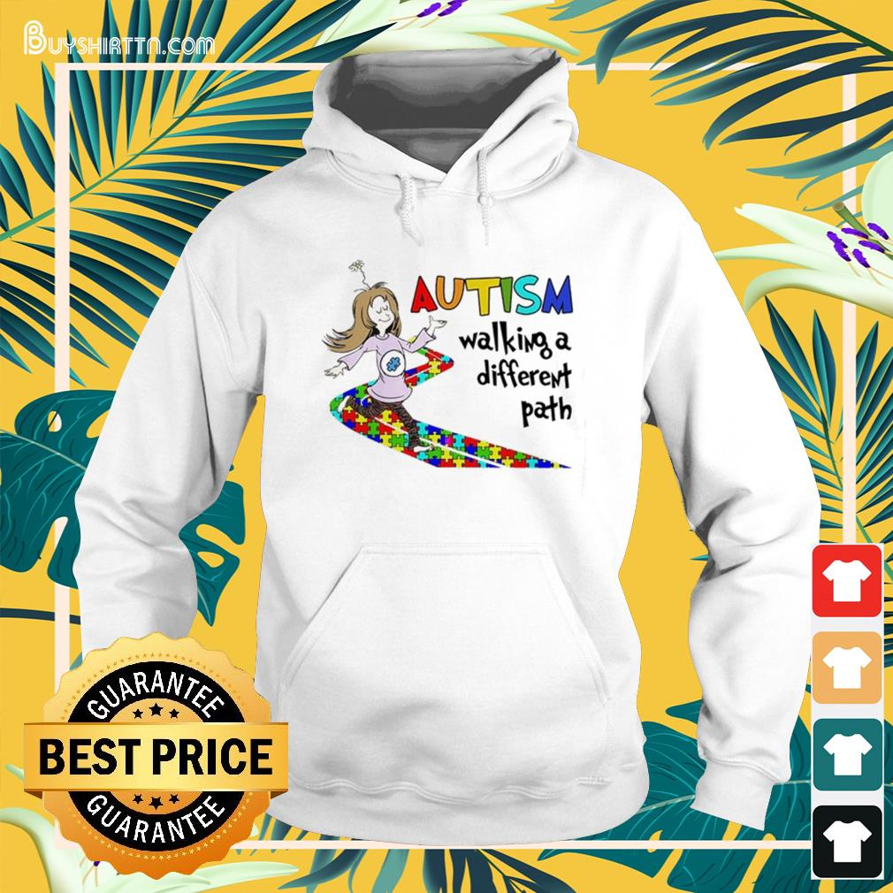 Autism walking a different path Hoodie