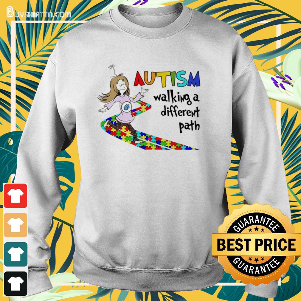 Autism walking a different path Sweater